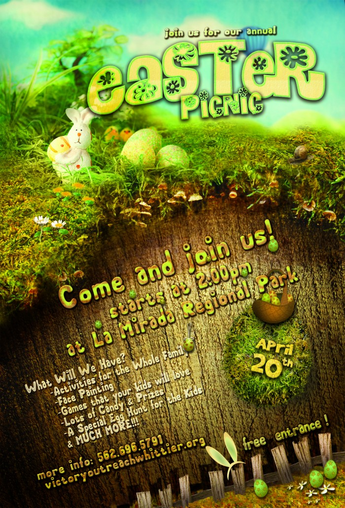 Easter hunt nature poster